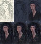 Axeki - fan art for Maria Turtschaninoff's book Anaché - tutorial