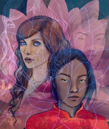 Immersion - short SF story illustration (2013)