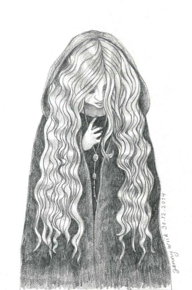 Goldilocks, graphite pencil sketch (2014)