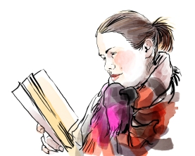 Portrait of Hanna Åkerfelt, a Twitter project (2014)