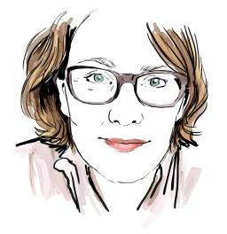 Portrait of Heidi Backman, a Twitter project (2014)