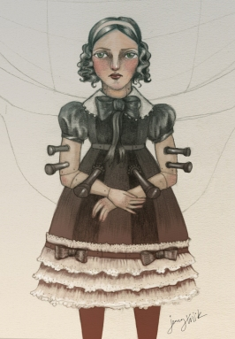 Fan art for Karin Tidbeck's short story Beatrice, for Archipelacon website 2015.
