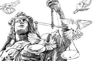Justice - Cover illustration for Mikaela Heikkiläs PhD thesis (2013)