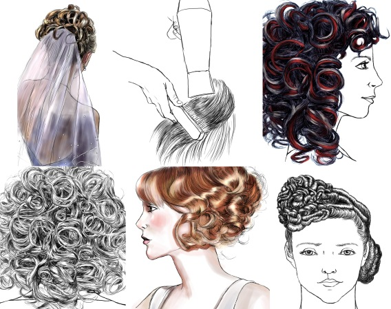 Technical beauty illustrations for educational material (SanomaPro 2012)
