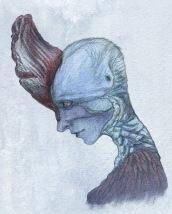 Bird woman, fantasy creature-sketch (2013)