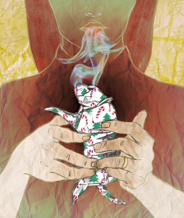 The Paper Menagerie - illustration for Ken Lius short story (2013)