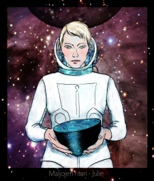 Julie - illustration for SF-novella by Ilkka Tuokko, collaboration work in progress (2013)