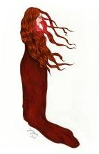 Game of Thrones fan art, Melisandre, for Archipelacon website 2015