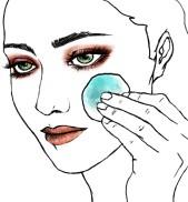 Technical illustration for skin care and beauty series, Kauneus & Terveys magazine January 2014