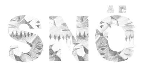 """Snö"", design based on a graphite drawing (2014)"