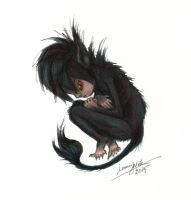 Fan art for Johanna Sinisalo's novel Troll, for Archipelacon website 2015