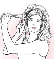Beauty illustration for Kauneus & Terveys magazine (autumn 2014)