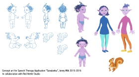 Character design for Sanalanka Speech Therapy App, 2015-16