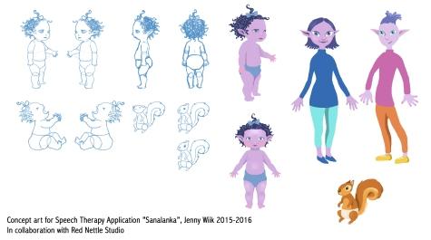 Character design for Sanalanka Speech Therapy App, 2015-16