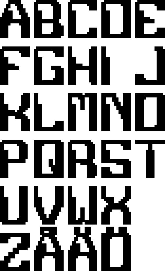 Futuristic robot font (X-libris 2016-2017)