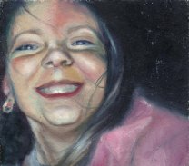 Self-portrait, oil on hardboard, 1999 (I was 21 years old when I painted this. It's me as an 11 year old).